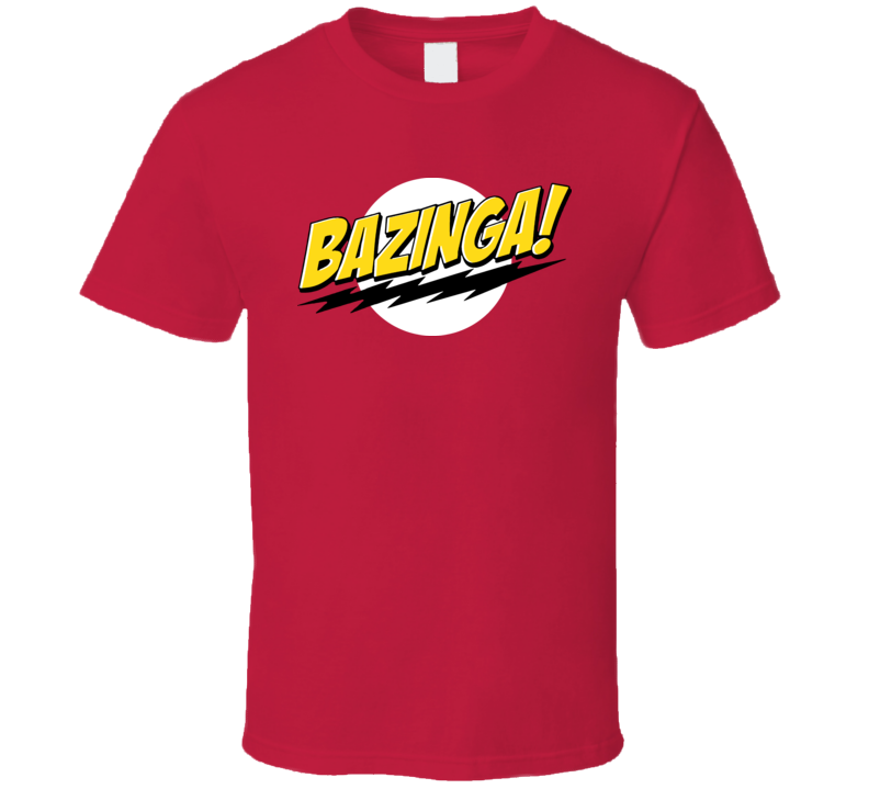 Bazinga Big Bang Theory TV T Shirt