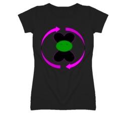 Double Heart Face T Shirt