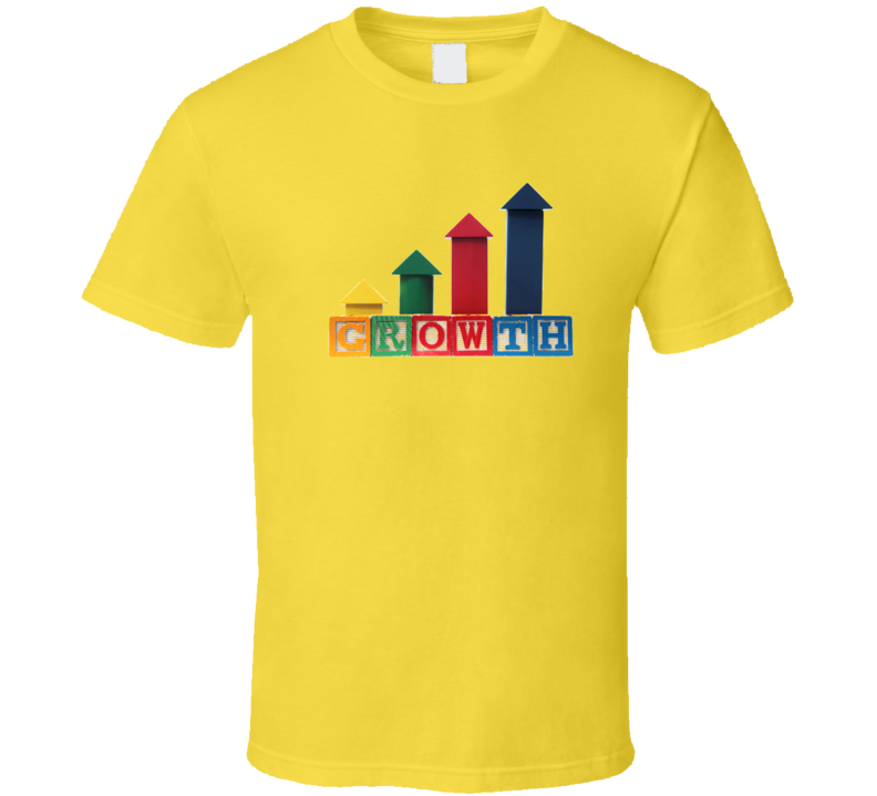 Growth Block Steps T Shirt on yellow