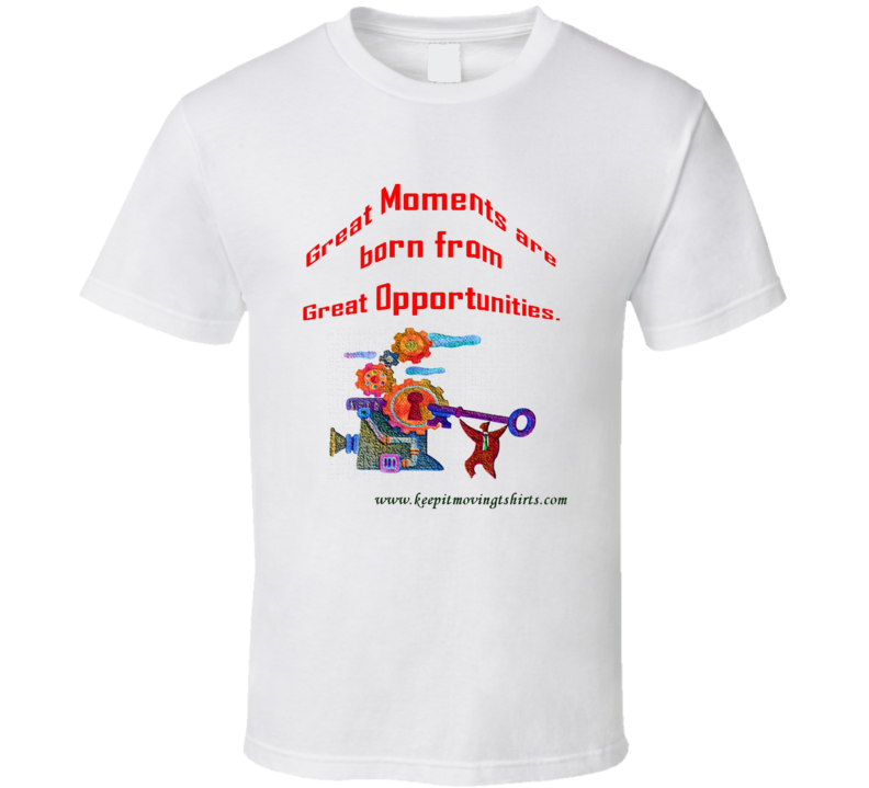 Great moments on white T Shirt