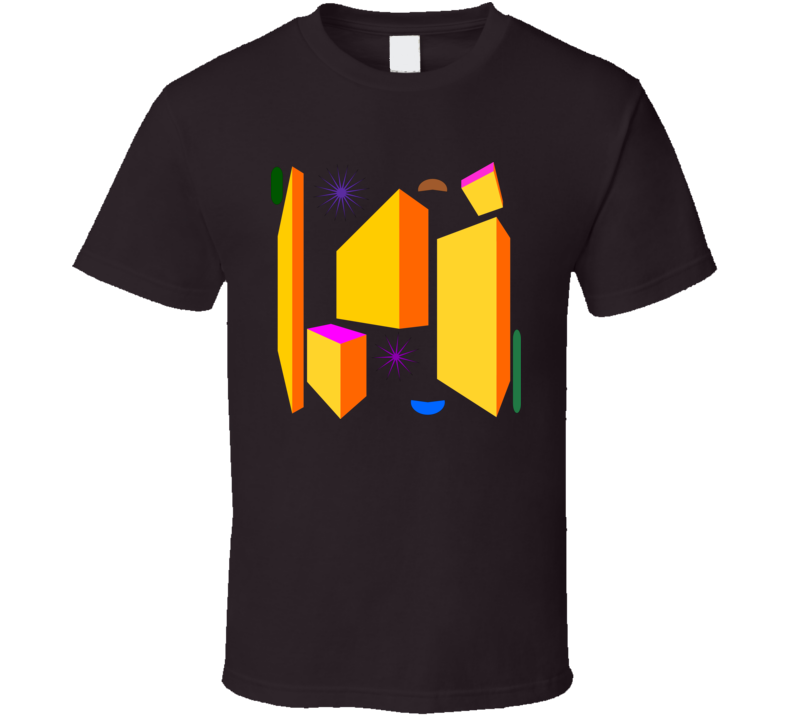 Multiple Colored Shapes T-Shirt