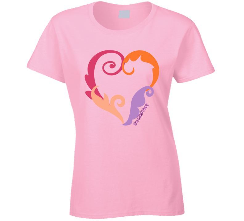 Shapely Heart Ladies T-Shirt