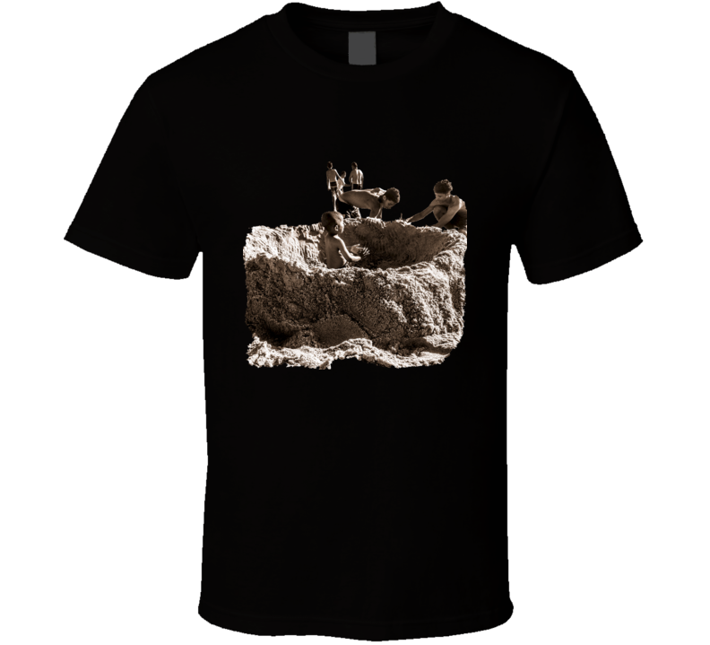 Beach Life Sepia Teen T-Shirt