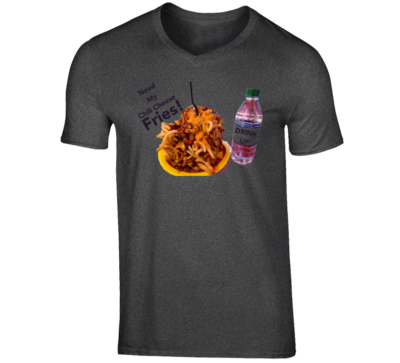 Fries and a Drink V-Neck Shirt