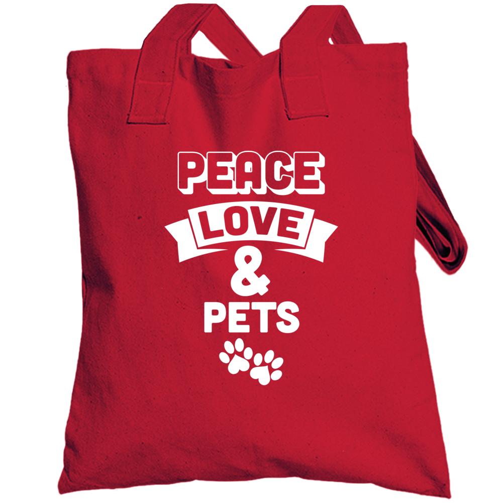 Peace Love & Pets Totebag