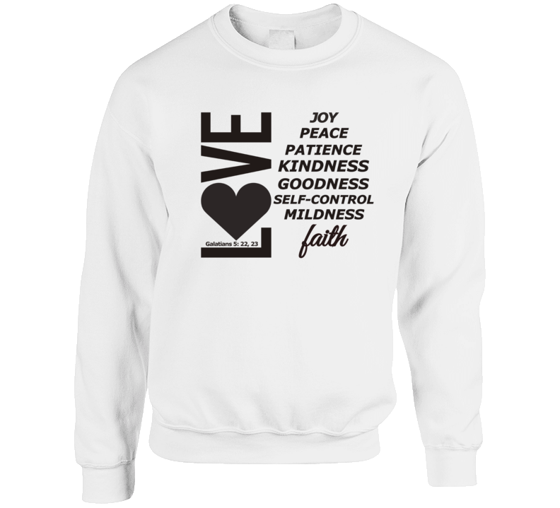 Love, Joy, Peace, Etc-b Crewneck Sweatshirt