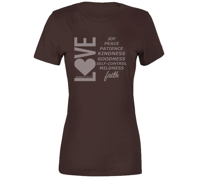 Love, Joy, Peace, Etc-sm Ladies T-Shirt