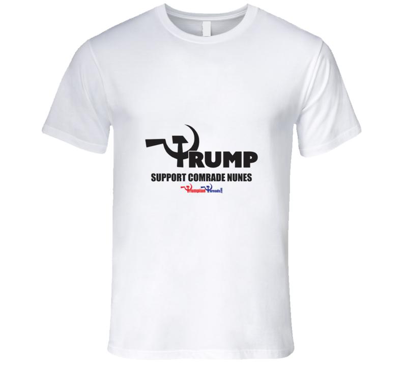 Support Comrade Nunes/Wht T Shirt