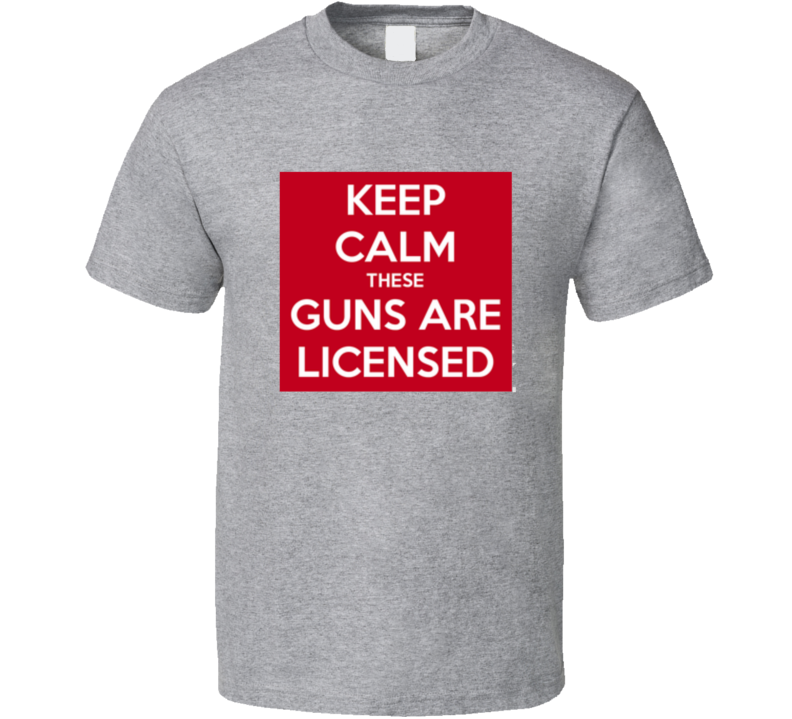 Keep Calm Fitness Guns NRA  T Shirt