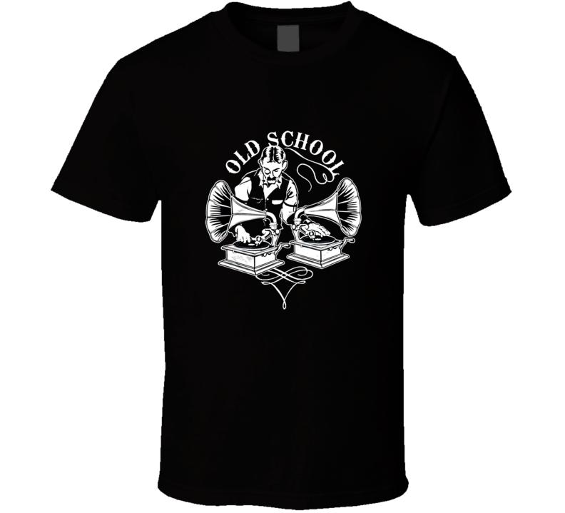 Old School DJ Gramophone Funny T Shirt