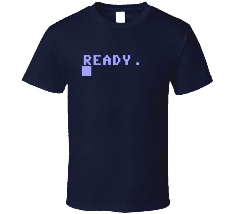 Commodore 64 Ready Boot Screenshot T Shirt