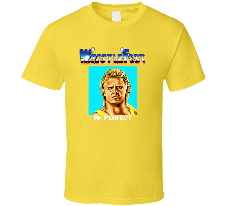 WrestleFest Mr. Perfect Arcade Video Game Wrestling T Shirt