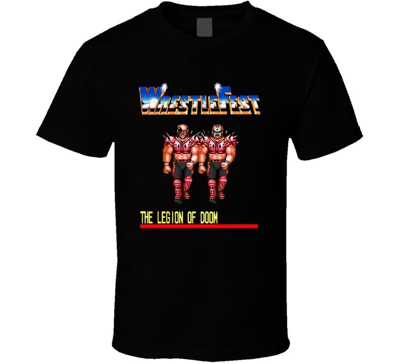 WrestleFest Legion of Doom Wrestling Arcade Video Game T Shirt
