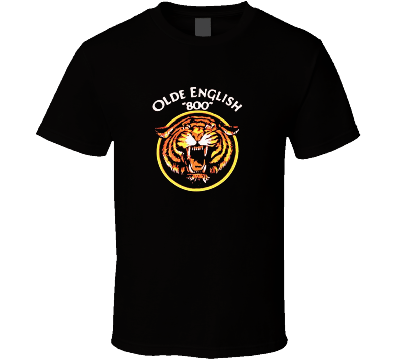 "Olde English ""800"" Malt Ligquor Tiger Retro T Shirt"
