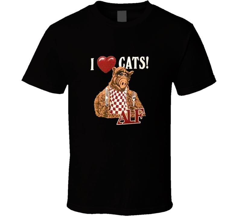 ALF I Love Cats Retro TV T Shirt