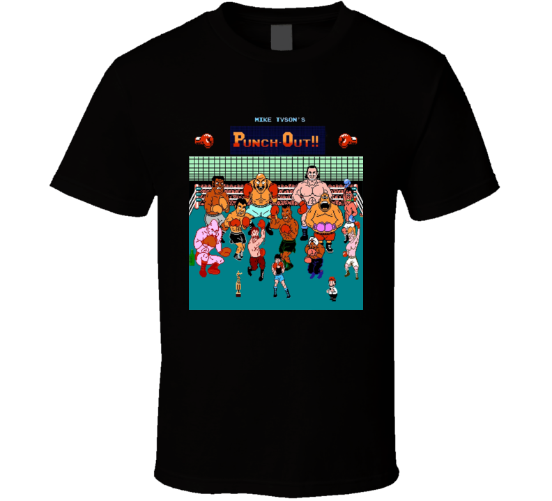 Mike Tyson's Punchout All Character's NES Video Game T Shirt
