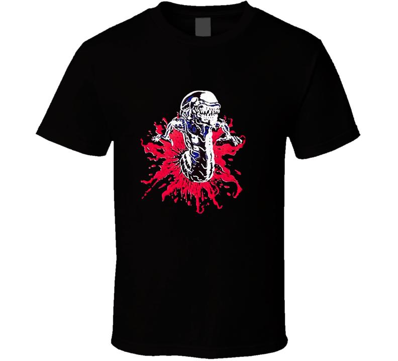 Alien Movie Chestburster Retro T Shirt