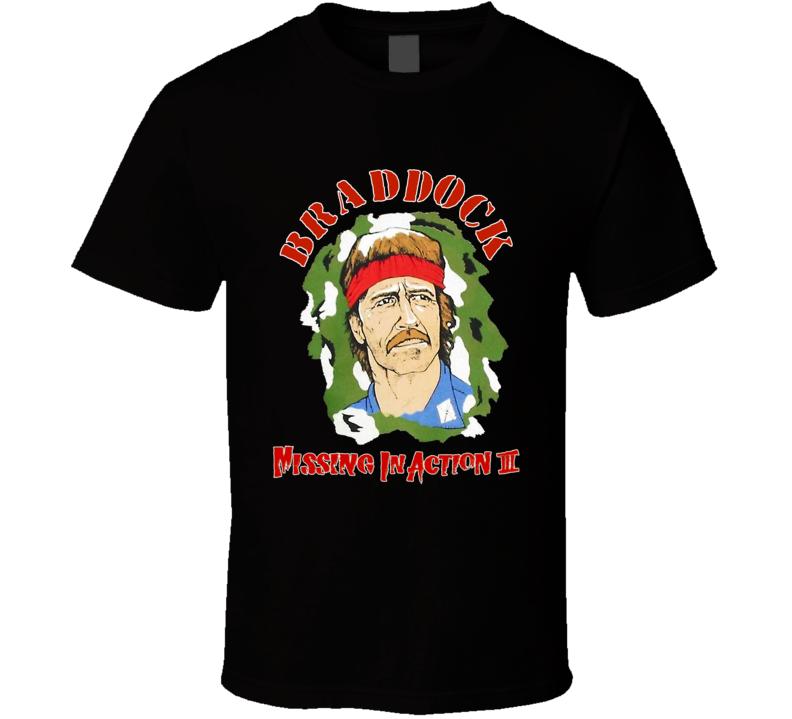 Chuck Norris Braddock Missing In Action II Retro Movie T Shirt