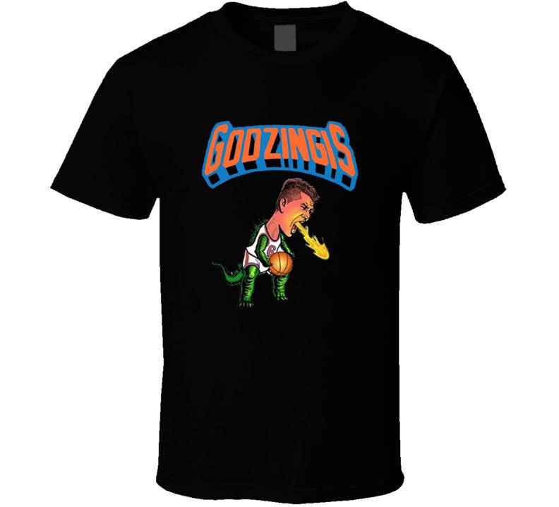 Kristaps Porzingis Godzingis New York Knicks Basketball Sports Black T Shirt