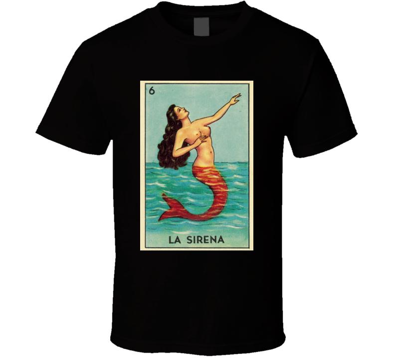 La Sirena Loteria Lottery Retro T Shirt