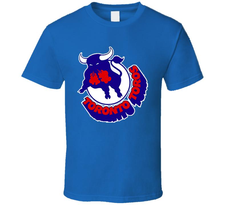 Toronto Toros Retro WHA Hockey Logo Blue T Shirt