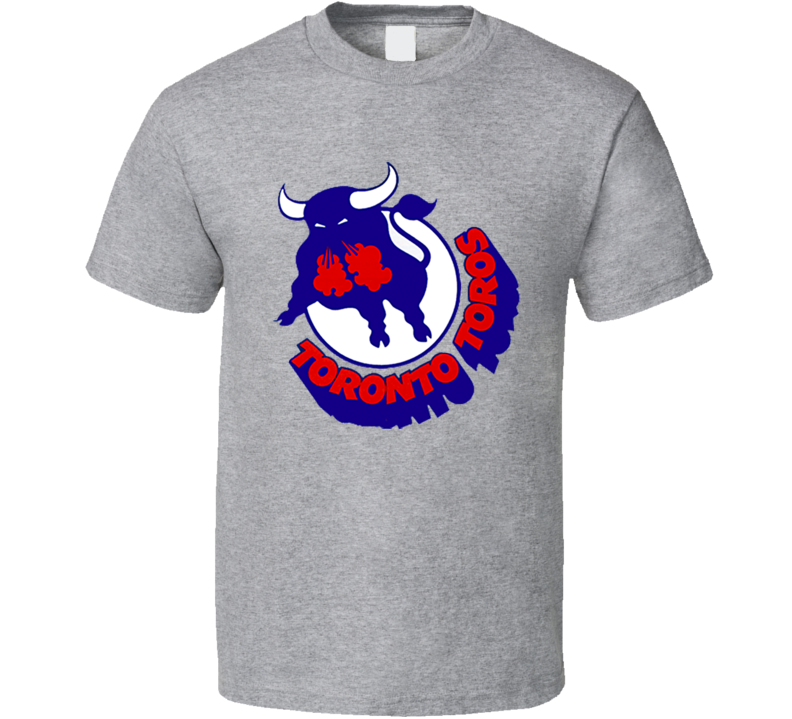 Toronto Toros Retro WHA Hockey Sports Grey T Shirt