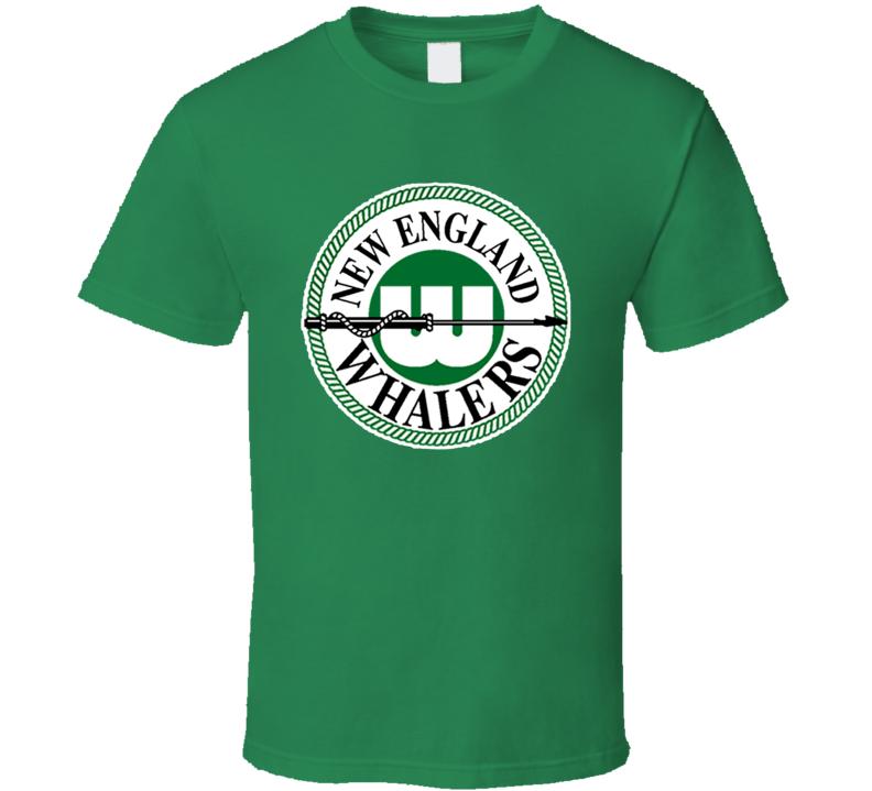 New England Whalers Retro WHA Hockey Green T Shirt
