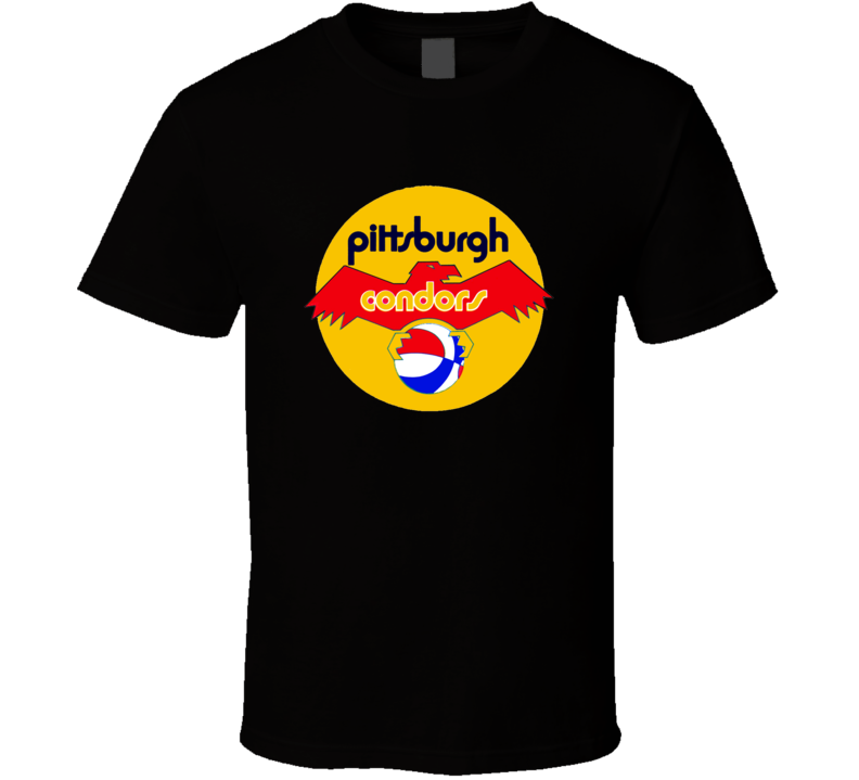 Pittsburgh Condors ABA Retro Basketball T Shirt