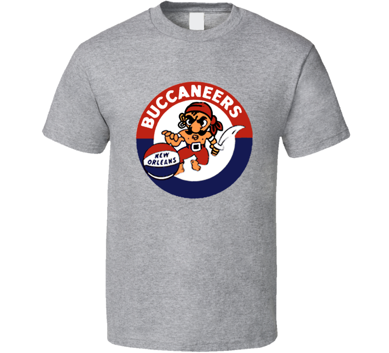 New Orleans Buccaneers ABA Basketball Retro T Shirt