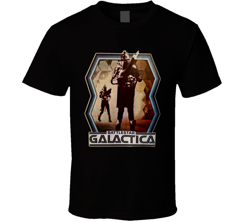 Battlestar Galactica Retro 70's Science Fiction Movie T Shirt