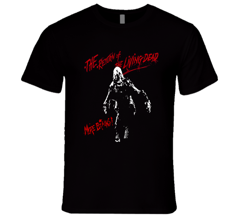 The Return of the Living Dead Tarman More Brains Retro Zombie Movie T Shirt