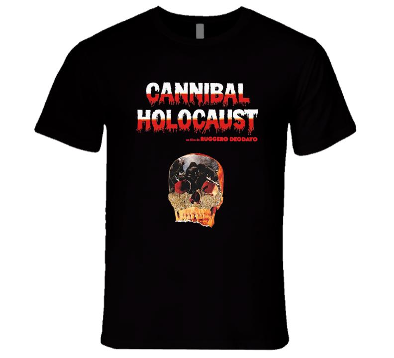 Cannibal Holocaust Retro Snuff Horror Film Ruggero Deodato Italian Movie Black T Shirt