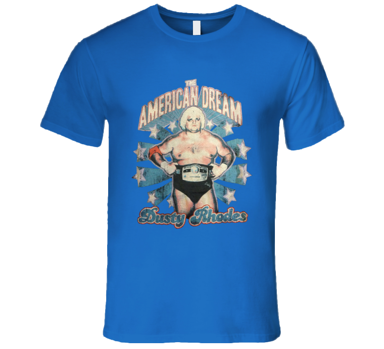 Dusty Rhodes The American Dream Classic Retro Wrestling T Shirt