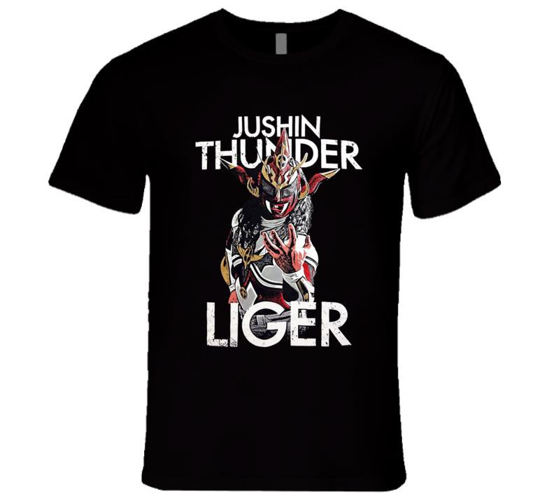 Jushin Thunder Liger New Japan Pro Wrestling NJPW Legend Classic Retro Wrestling T Shirt