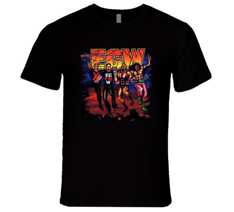 ECW Logo Classic Retro New Jack Tommy Dreamer Sabu Taz Wrestling T Shirt