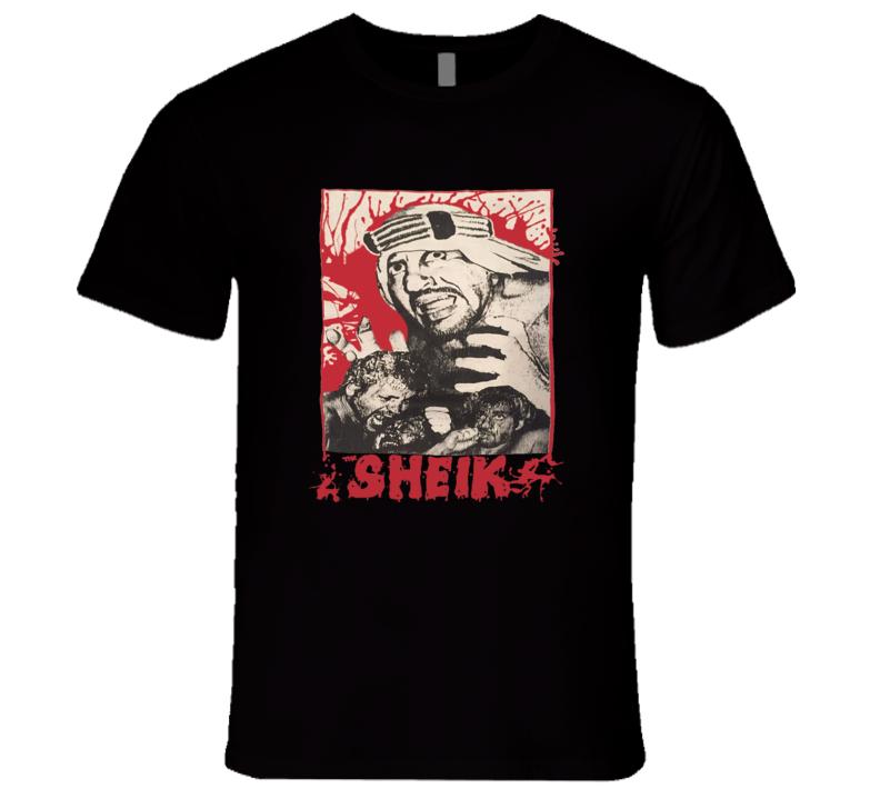 The Sheik The Original Sheik Ed Farhat Original Hardcore Retro Classic Wrestling T Shirt