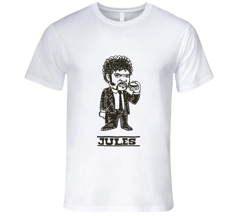 Pulp Fiction Samuel L. Jackson Jules Cartoon Quentin Tarantino Movie T Shirt