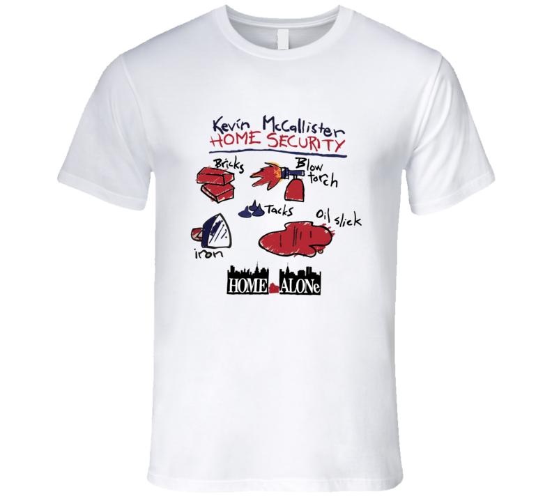 Home Alone Kevin McCallister Home Security Macaulay Culkin Funny Movie Promo Retro T Shirt
