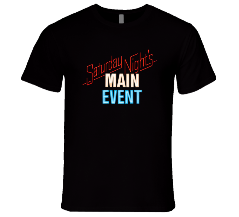 Saturday Night's Main Event Classic Wrestling Program T Shirt