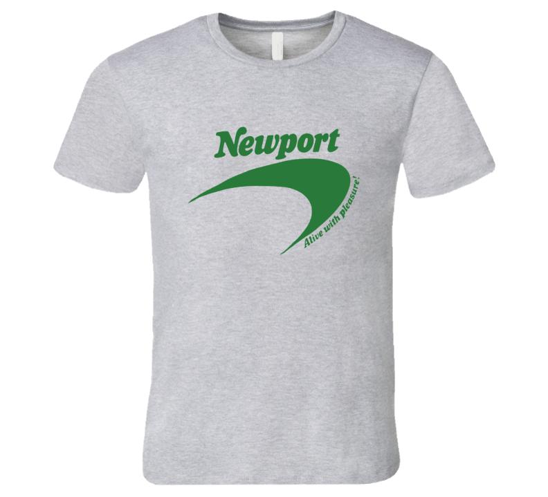 Newport Cigarettes Classic Retro Advertising T Shirt