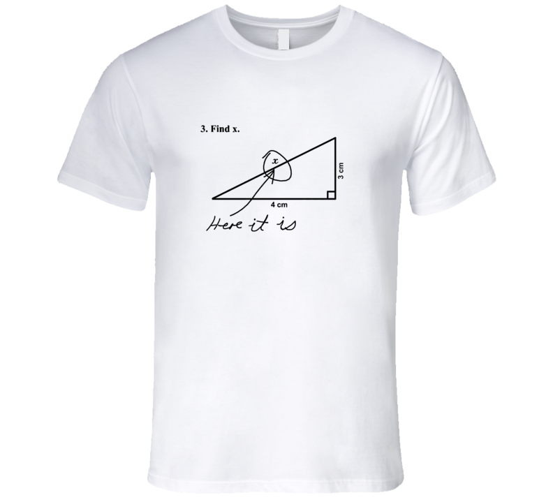 funny kid's test answers find x here it is t shirt