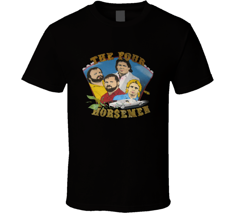 The Four Horsemen Retro Wrestling Black T Shirt