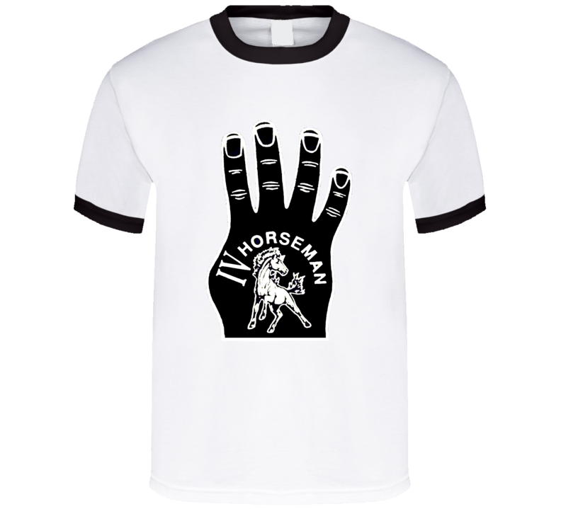 The Four Horsemen Ric Flair Foam Finger Classic Retro Wrestling Stable T Shirt
