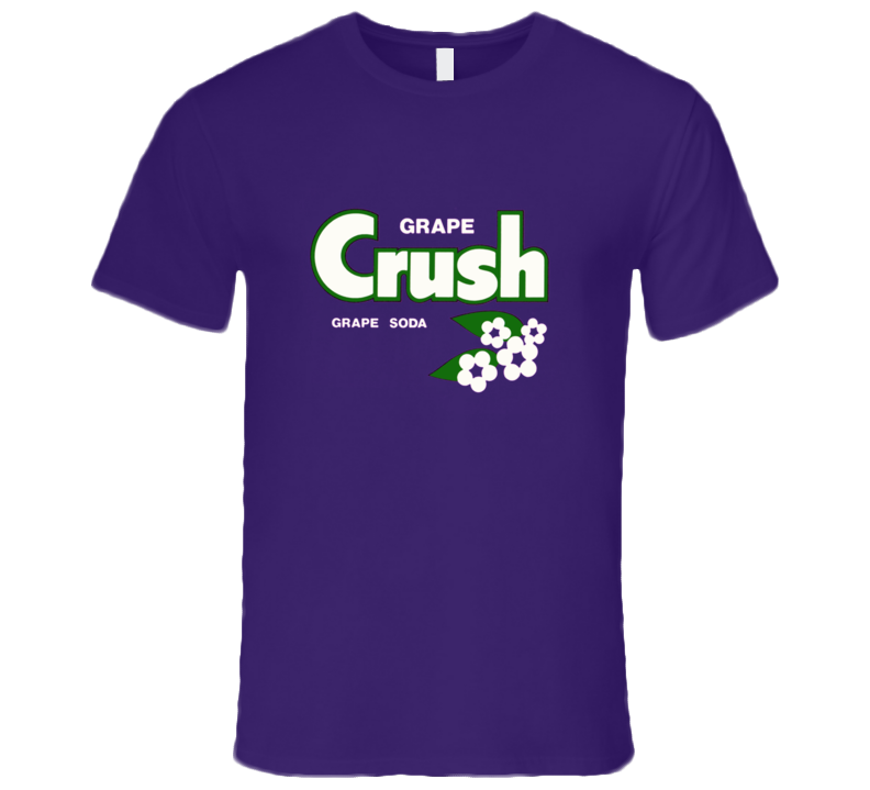 Grape Crush Soda Classic Retro Logo T Shirt