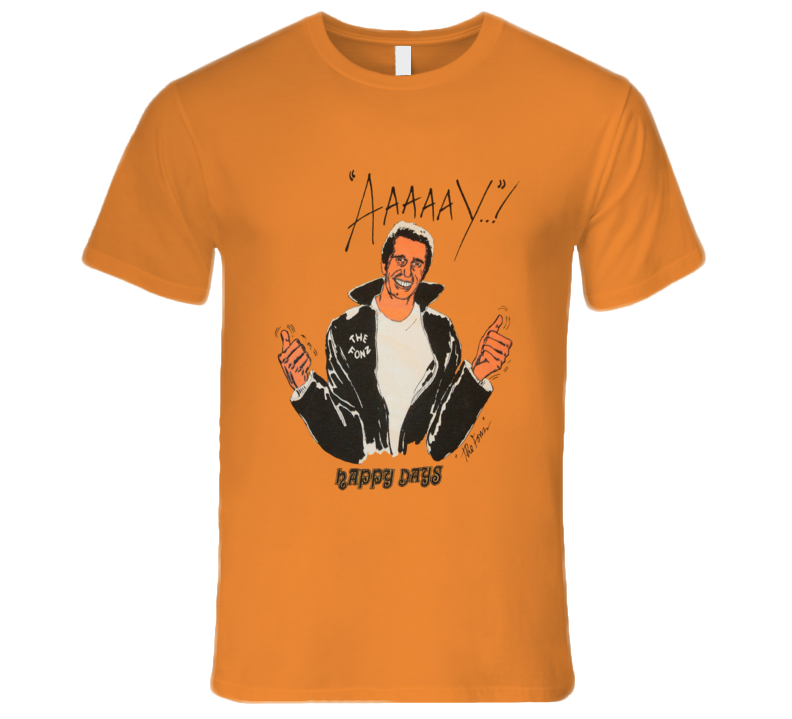 Happy Days The Fonz Aaaaay Retro TV Show T Shirt