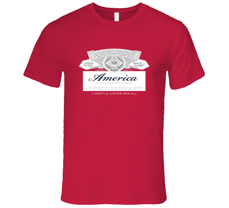Budweiser America Label Beer T Shirt