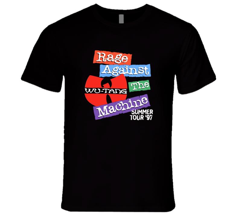 Rage Against The Machine Wu Tang Summer Tour 1997 Retro Rare Hip Hop Music T Shirt