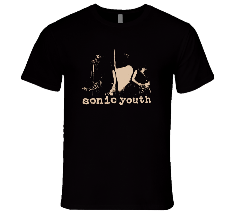 Sonic Youth Silhouette Classic Retro Rare Rock Music T Shirt