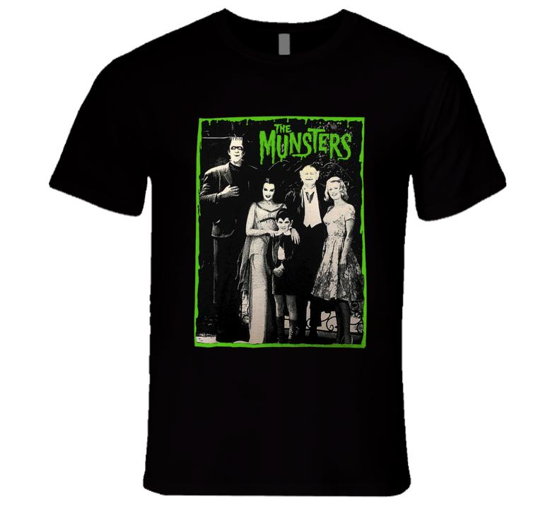 The Munsters Classic Retro Rare TV Show T Shirt