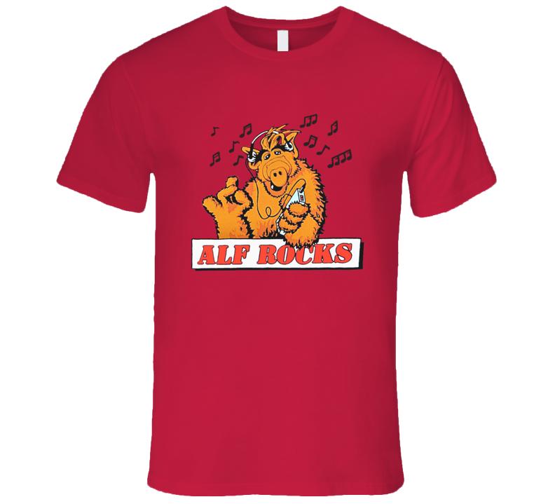 Alf Rocks Retro Rare Classic TV Show T Shirt